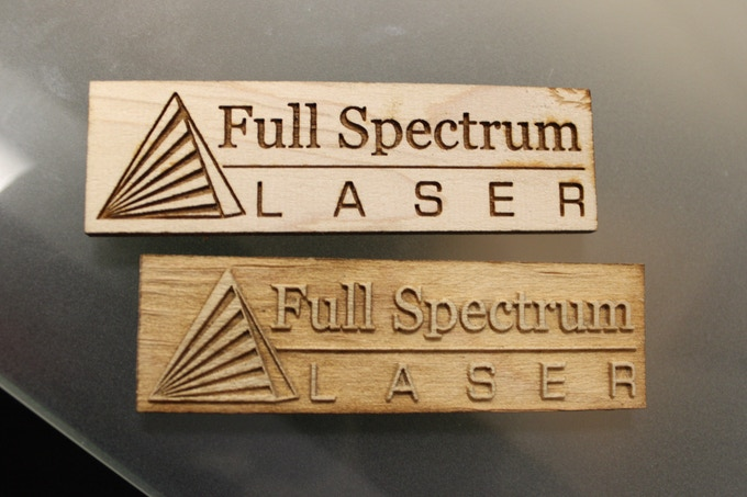 Our logo on wood