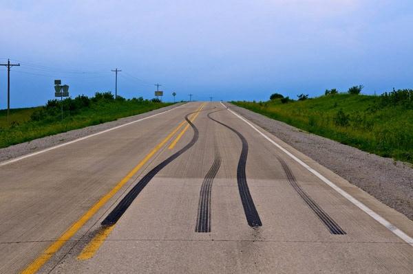 Tire Tracks, near Morse, Iowa