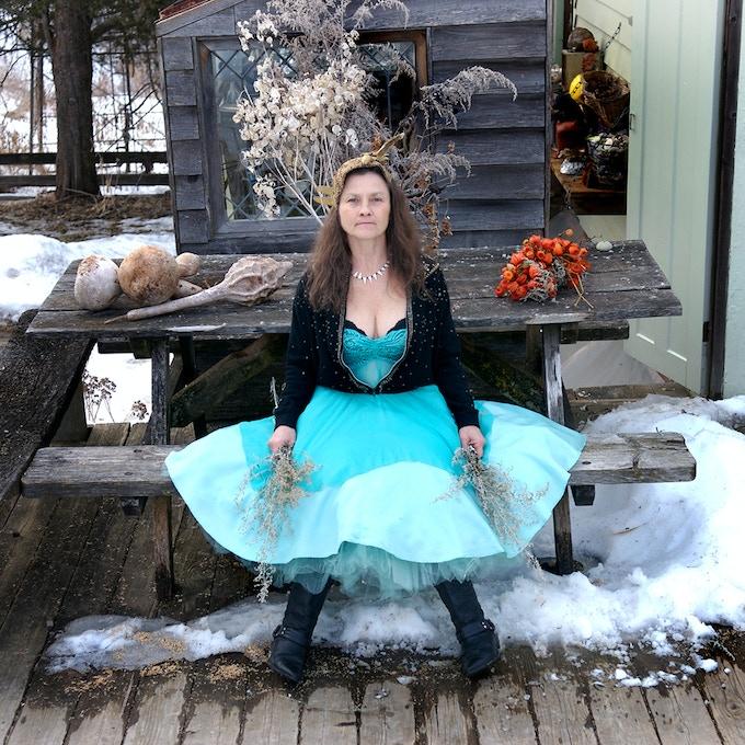 Joan in Her Turquoise Dress, near Bellevue, Iowa