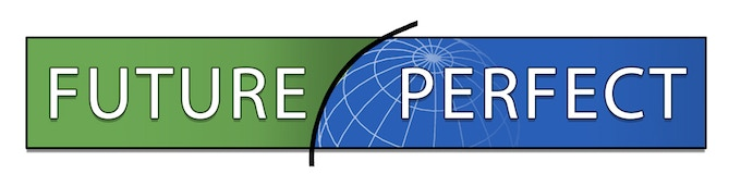 The logo for our fictional ESL School, Future Perfect