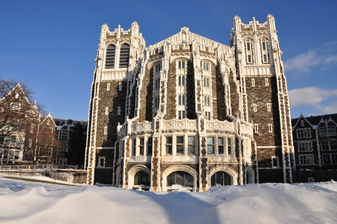 Shepard Hall exterior. A great deal of 'Future Perfect' will be shot inside.