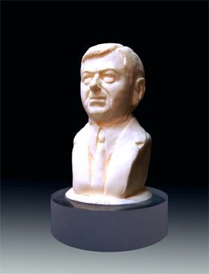 John Ashcroft hand-cast resin bust