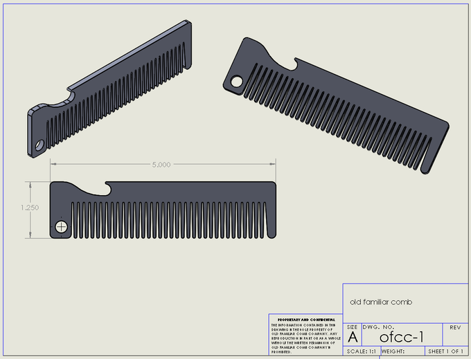 Old Familiar Comb Layout