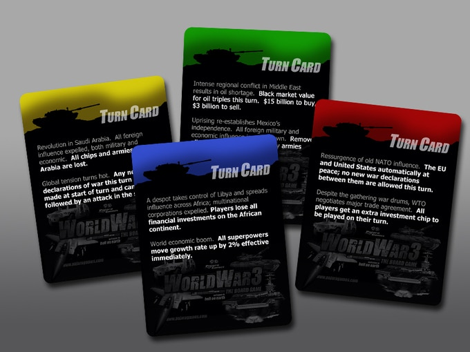 Game cards add realism to the flow of game play