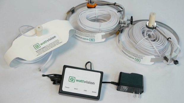 Wattvision 2: You'll get a Gateway and one sensor appropriate for your meter