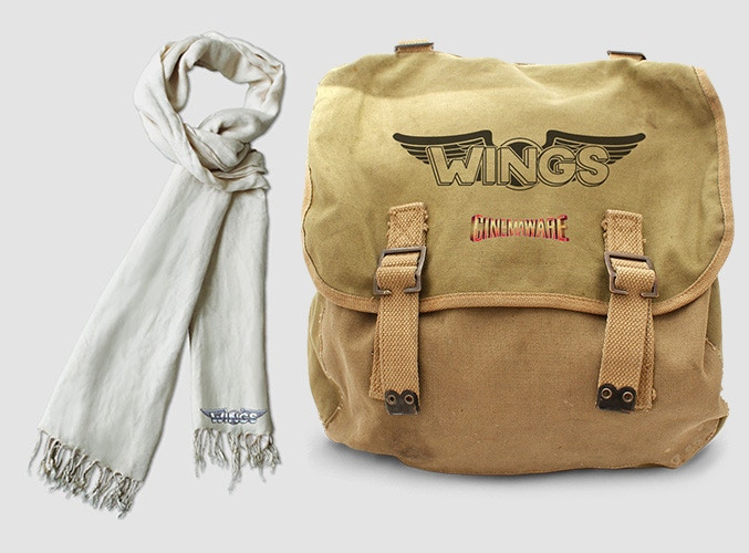 Prize: Wings scarf & military bag (artistic rendition, subject to change)