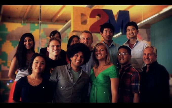 This is the D2M   Design to Matter team in Silicon Valley, where Instacube was created.