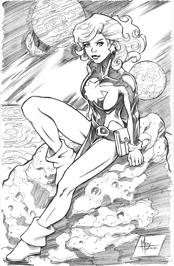 Sample of what a penciled $200 pledge looks like, but with your character choice!