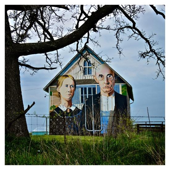 American Gothic, near Mount Vernon, Iowa