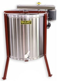 A radial extractor that can remove the honey from both sides of the frame at the same time.