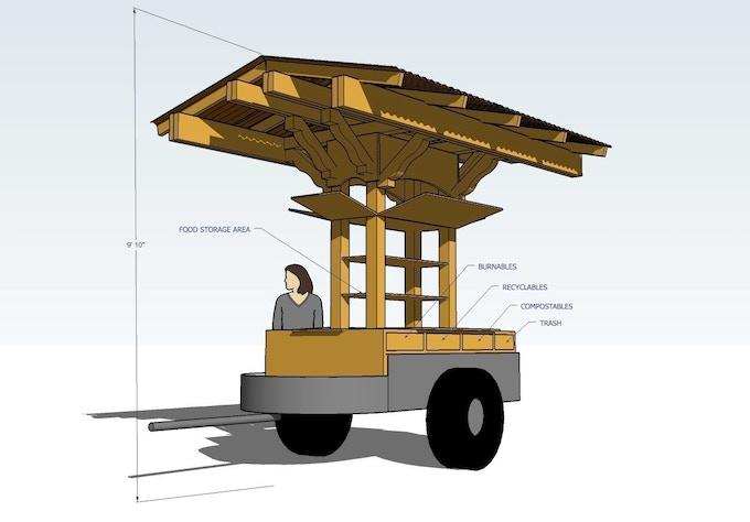 PB&J Cart design, including waste management