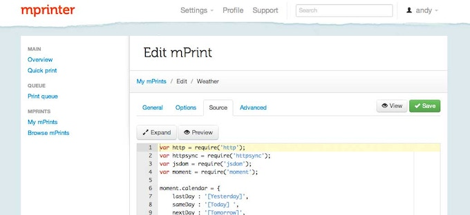 Our website lets you easily create and share mPrints