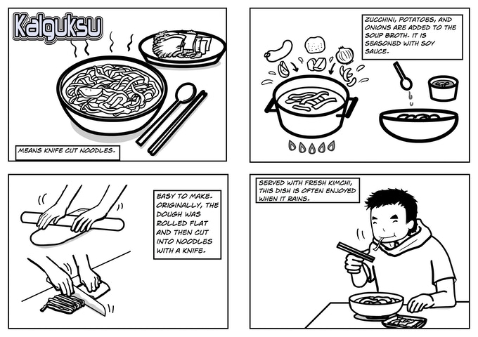 "The Illustrated ""How to Eat"" Korean Food Comic from 2009"