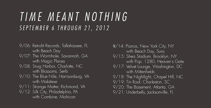 TEEPEE EAST COAST TOUR 2012
