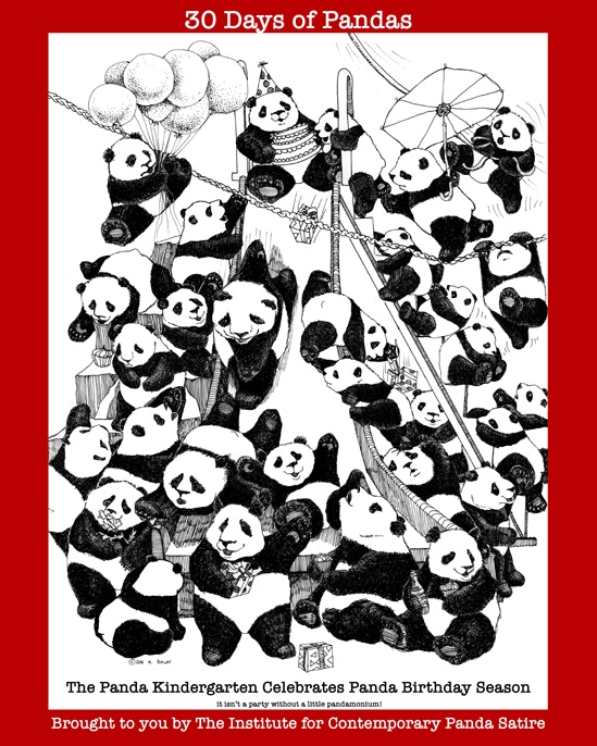 The 30 days of pandas poster!