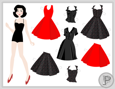 backer reward : paper doll by Kate of Scathingly Brilliant and Flapper Doodle