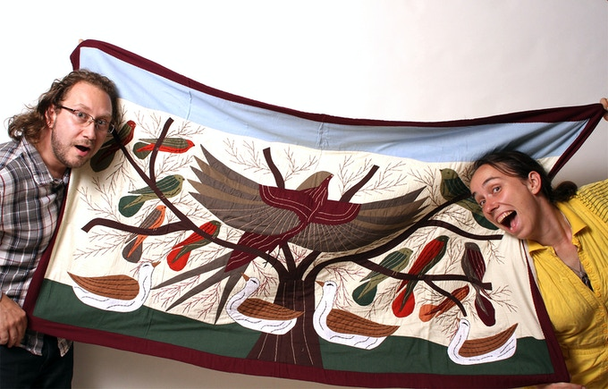 Largest Tapestry Hand Made by Hany: Tree of Life (Rodion and Anna Not Included in Reward)