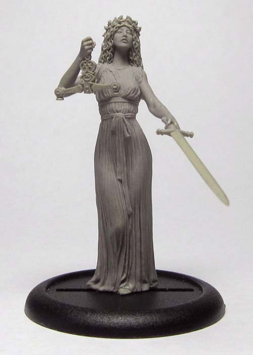 54mm Justitia, Roman Goddess of Justice Work in Progress