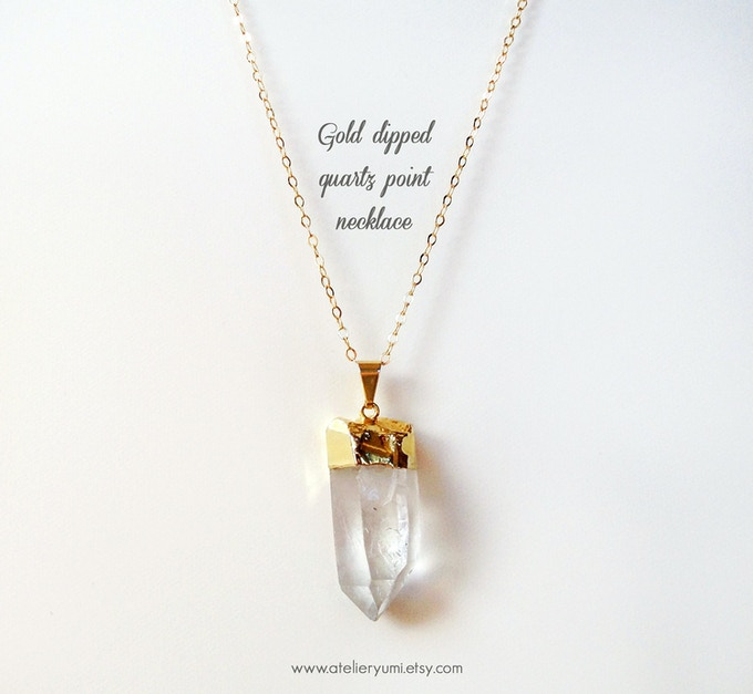 With a $65 donation you will receive an original handmade gold dipped crystal quartz necklace designed by Atelier Yumi, her work served as part of the inspiration for the movie + special thanks in the the movie, a copy of the storyboard, script & notes.