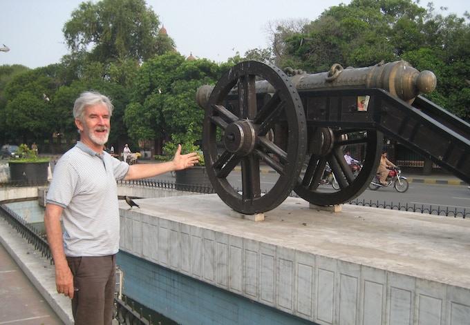 "At the ""Zamzama"" gun in Lahore that opens Kipling's ""Kim"""