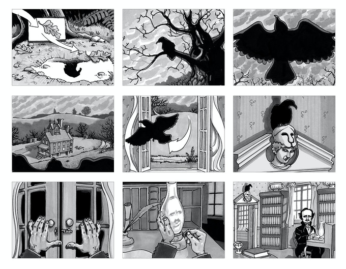 Illustrator Kevin Rucker brings the show open to another level with these storyboard sketches. See the full storyboard here.