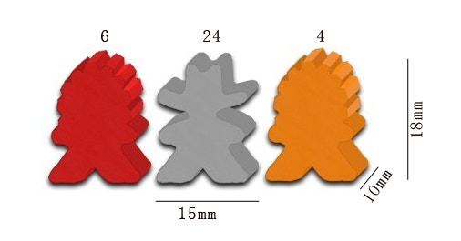 The 34 Cowboy and Indian Meeple set included with your pledge