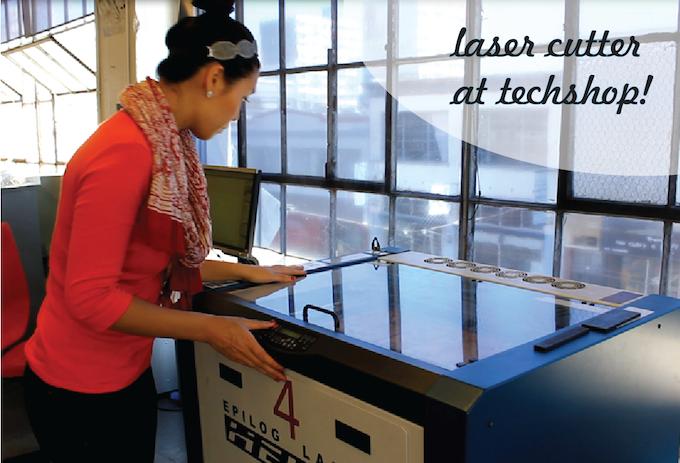 Working on Laser 4 at TechShop!