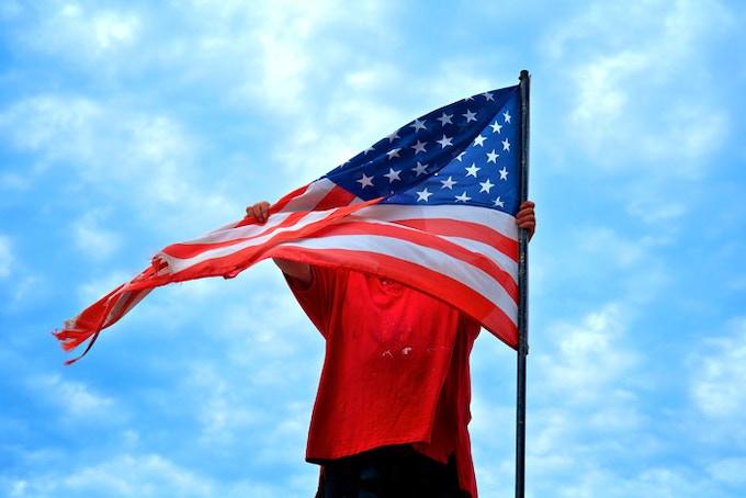 Man with Flag, Royalton, Minnesota