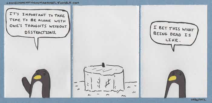 A comic from Crimes Against Hugh's Manatees