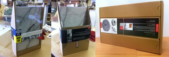 Final prototypes for retail packages and shipper
