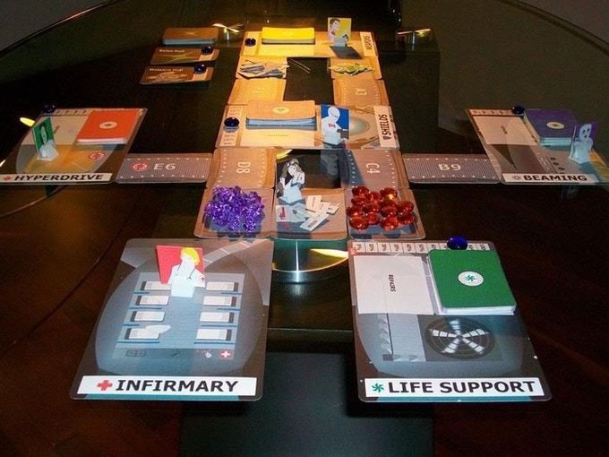 Prototype game pieces shown for the First Encounter scenario