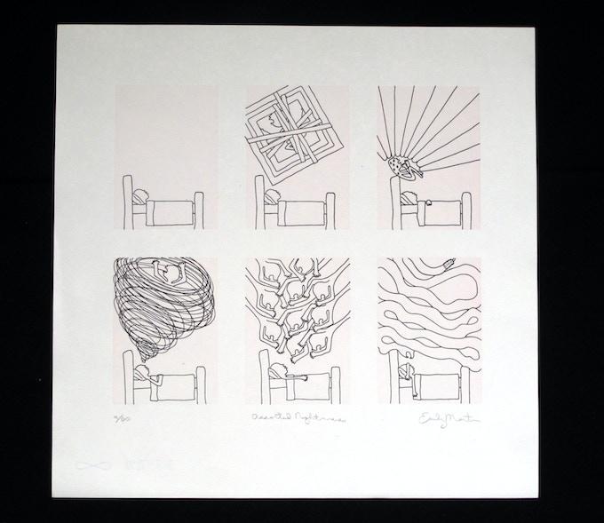 "Emily Martin, Assorted Nightmare 13x13"" Letterpress print"