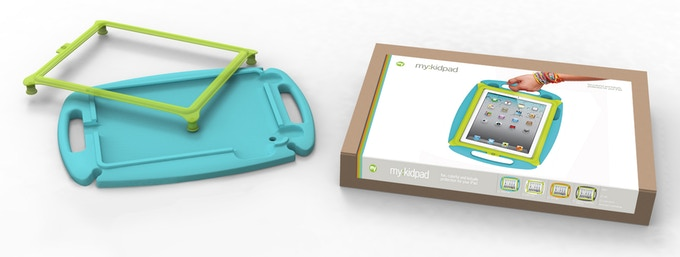 my:kidpad shown with proposed packaging