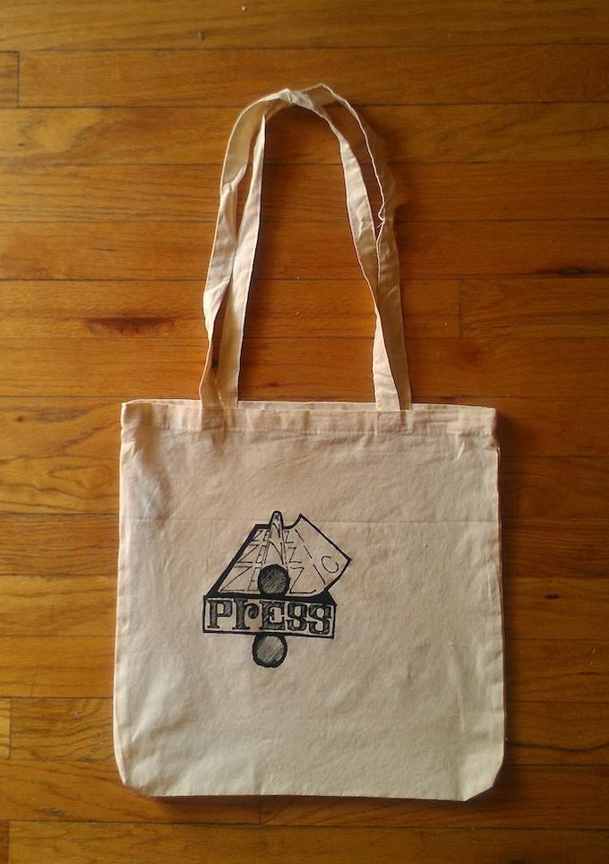 Silkscreened Zenzic Press tote bag