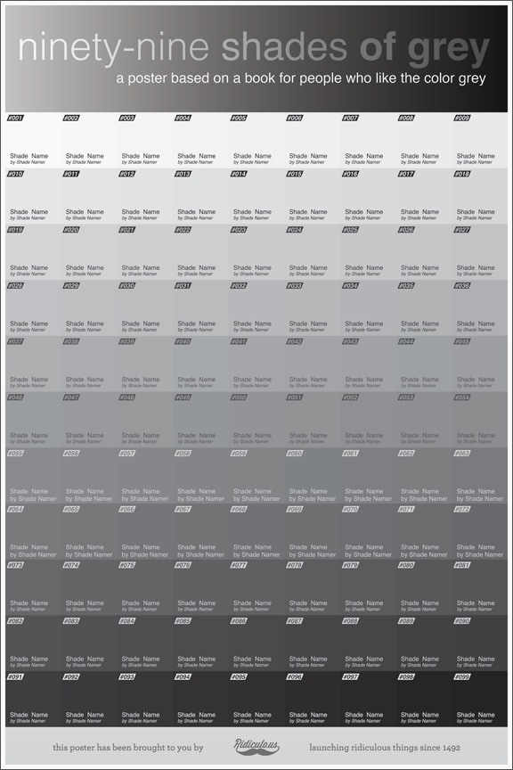 99 Shades of Grey: the Poster