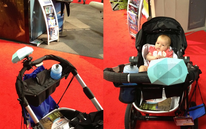 Mounts to ANY Stroller! Can even use as a speaker phone!