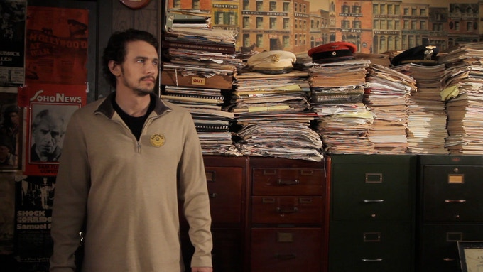 James Franco enters Sam's office. Where the past... meets the present... inspiring the future...