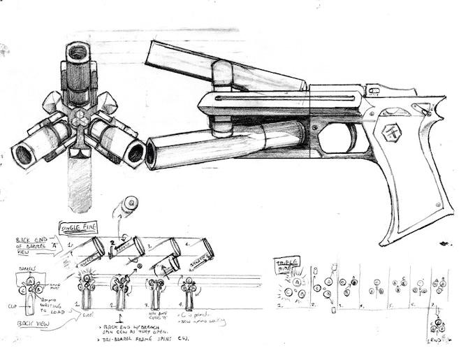"""TJ's """"Hydra"""" Pistol Concept A"""