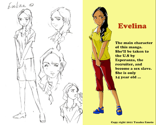 Evelina First sketch