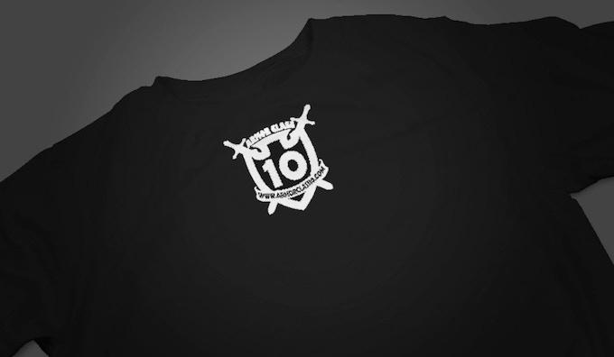 AC10 Logo -Back Center of most shirts