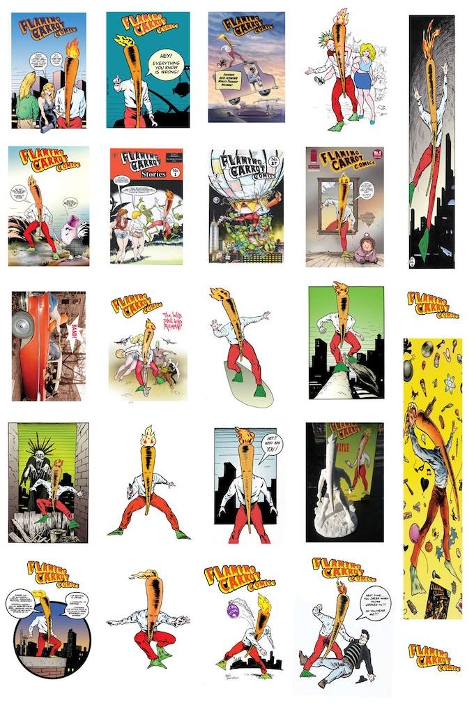 flaming carrot hardback digital comics by bob burden. Black Bedroom Furniture Sets. Home Design Ideas