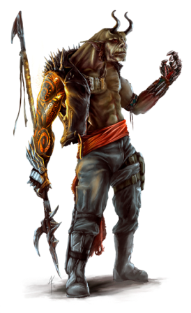 Concept art by James Krause- Khal, full orc mage with runescribing, a cybernetic hand, and a bad attitude