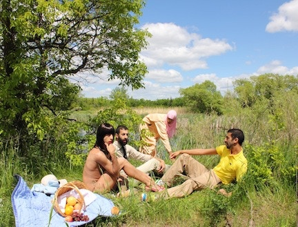 """""""The Luncheon on the Grass"""" by artist 2FIK; one of many photographs that will be included in his exhibition at the Invisible Dog in April 2013!"""