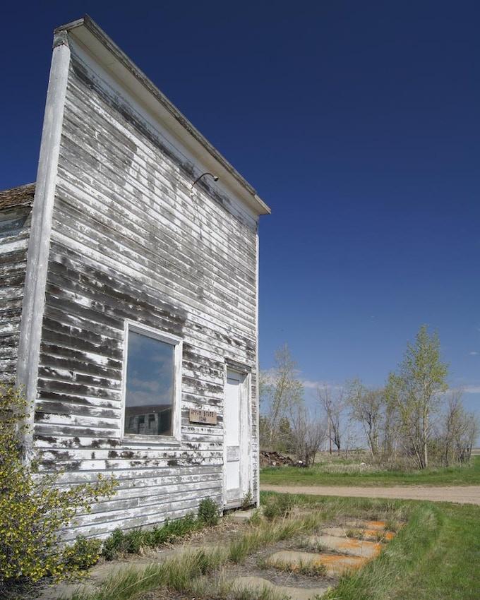 The former Appam State Bank in Appam, North Dakota.