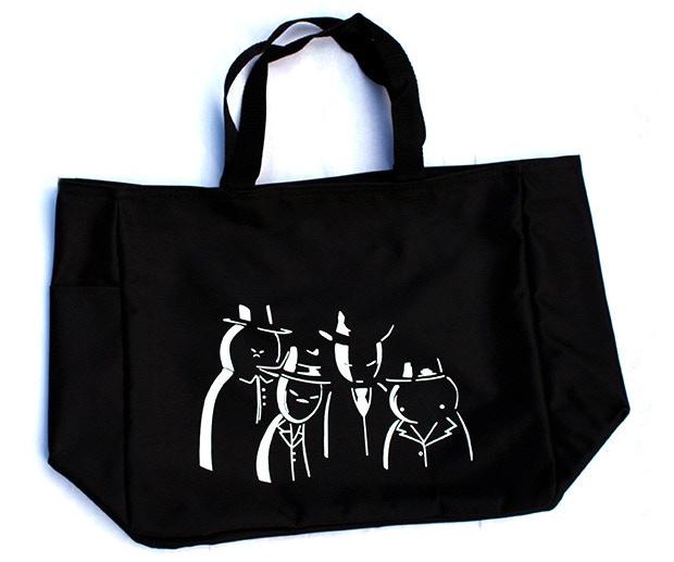 """Black Midnight Crew tote bag (14""""w x 12""""h x 6.5""""d)"""