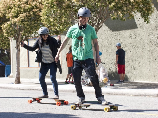 how to ride a longboard without pushing