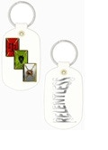 Key Chain - Card backs on one side, Relentless Across the other