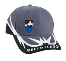 Hat - Victory Standard on right panel, Relentless across bill