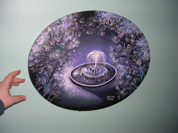 """""""The Midnight Fountain"""" -- to give you an idea of the actual size..."""
