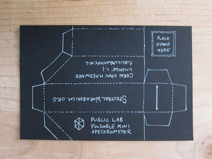 "Prototype of fully-functional ""fold-up"" spectrometer ($10)"